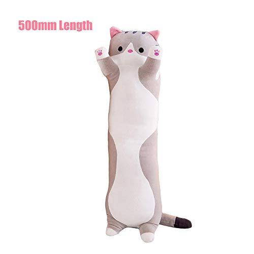 Decdeal Lindo Gato de Dibujos Animados en Forma de muñeca de Juguete de Peluche de Juguete para Dormir Almohada de Tiro Largo Regalo Decorativo