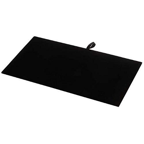Beadaholique Jewelry Display Pad, Luxurious Black Velvet