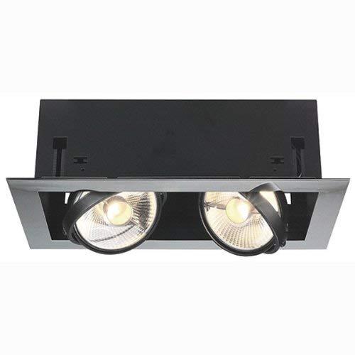Slv aixlight flat doble - Luminaria empotrar aixlightdoble 2x75w cromo/cromada negro mate