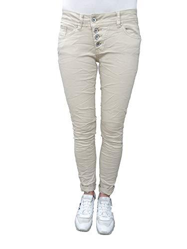 Buena Vista Damen Jeans Malibu Dreamtouch Twill-Ecru L
