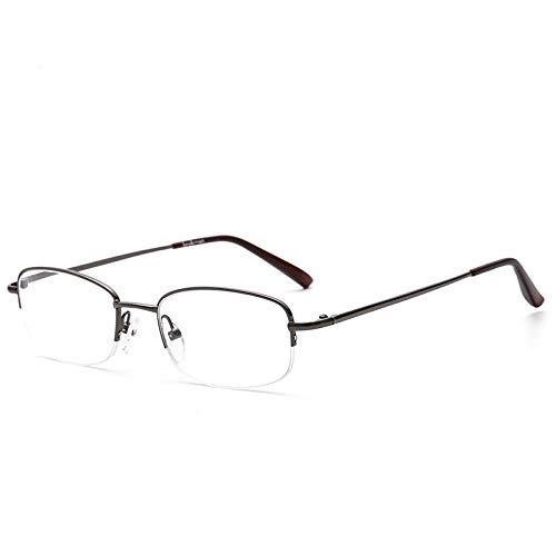 Suertree Lesebrille Randlose Sehhilfe Ultraleichte Brille für Damen Herren BM301 2.5X