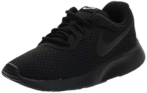Nike Womens Tanjun Black/Black White Running Shoe 7 Women US