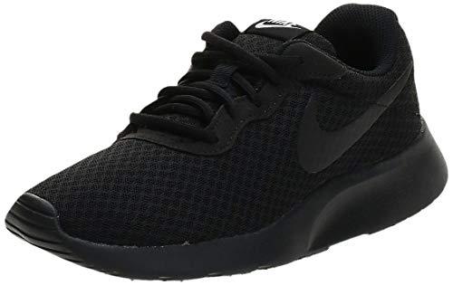 Nike Womens Tanjun Black/Black/White Running Shoe 9 Women US