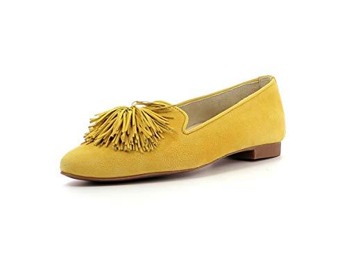 Paul Green Damen SlipperMokassins 2376, Frauen Slipper, Schuh Loafer businessschuh weibliche Lady Ladies feminin elegant Women's,Mango,40.5 EU / 7 UK
