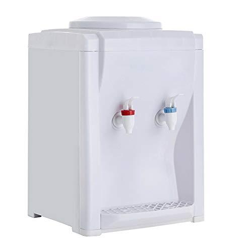 Foxmey Water Dispenser, Countertop Water Dispense, Mini Water Dispenser Electric, Electric Hot Cold Water Cooler Dispenser Dustproof Detachable for Home Office (White)
