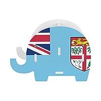 フィジーの国旗 ペンスタンド 小さな象のペンホルダー多機能おしゃれ かわいい 象 鉛筆立て 携帯電話ホルダーデスクの装飾の木の象のペンホルダー文房具 ペンホルダー ペンスタンド 卓上 収納