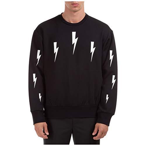 Neil Barrett Men Sweatshirt Halo Bolts Nero S