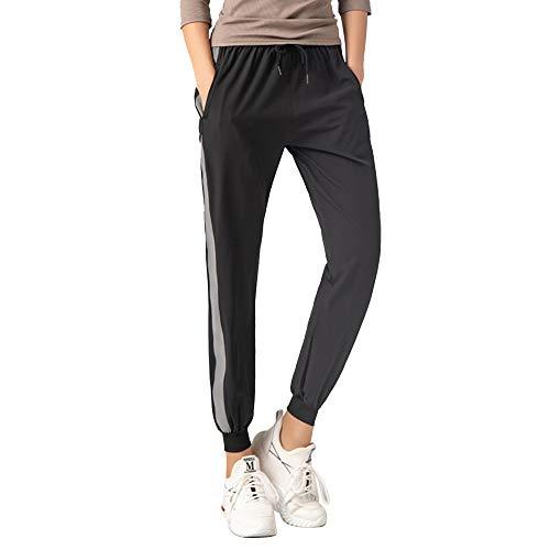 Pantalon de Jogging Mujer,Largos Moda Casuales Pantalones Deportivos para Mujer, Primavera Verano Pantalón de Chándal con Bolsilpara Gimnasio Secado Rápido Pantalones Deportes Jogging Mujer