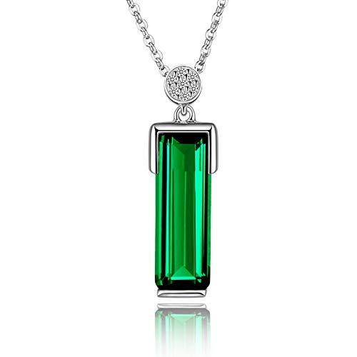 ZWP Europäische Und Amerikanische Heiße Förmige Smaragd Anhänger Niedrige Luxusimitation Turmalin Grüne Kristall Halskette Smaragd Kristall Halskette