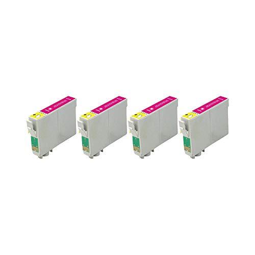 RudyTwos - Juego de 4 cartuchos de tinta para Epson Seahorse, magenta compatible con Stylus Photo R200, R220, R300, R300M, R320, R325, R330, R340, R350, RX300, RX320, RX500, RX600, RX620, RX640