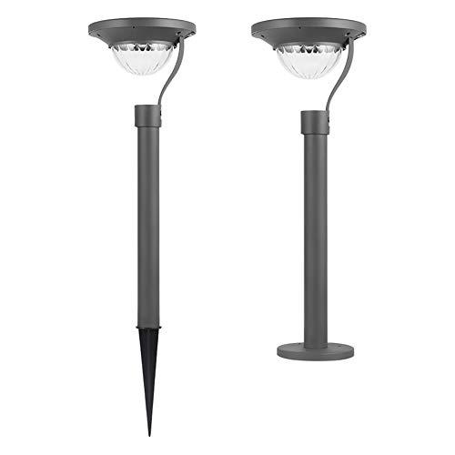 SOFIL Luces Solares Jardín Metal LED Lámpara de Camino de Paisaje Blanco Cálido IP65 Impermeables para Patio Césped Pasillo Terraza