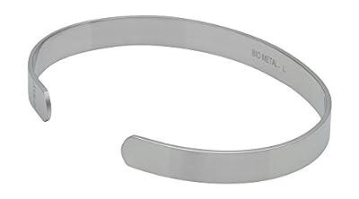 "QRAY Lite Steel Golf Athletic Bracelet Men Women C-Shaped Health Wellness Bracelet (Large: 7.75""~8.5"")"