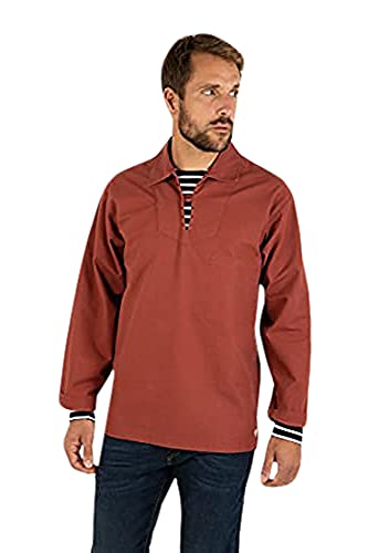 Armor Lux GUILVINEC, Chemise casual taille normale Homme, Rouge (Rouille 638), X-Small (Taille fabricant: 1)