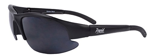 Rapid Eyewear Very DARK CATEGORY 4 SUNGLASSES for Extreme Sun Conditions and Sensitive Eyes (Photophobia). UV400 Tinted Protection Glasses for Men & Women. Matt Black