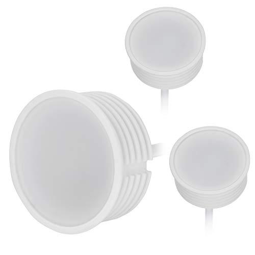 Lot de 3 modules LED GU10 MR16 50 mm de diamètre réflecteur 22 mm de longueur variable 5 W 410 lm Blanc chaud 2700 K Branchement direct sur 230 V 120 ° pour spot encastré standard