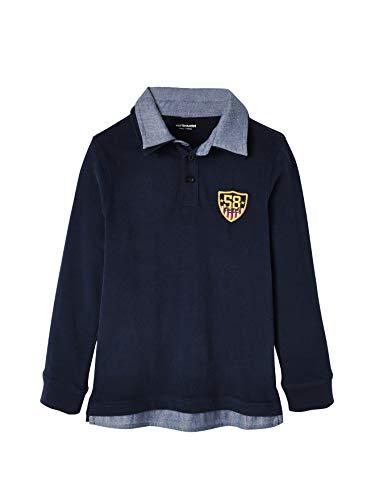 Vertbaudet Poloshirt für Jungen, Lageneffekt Nachtblau 128
