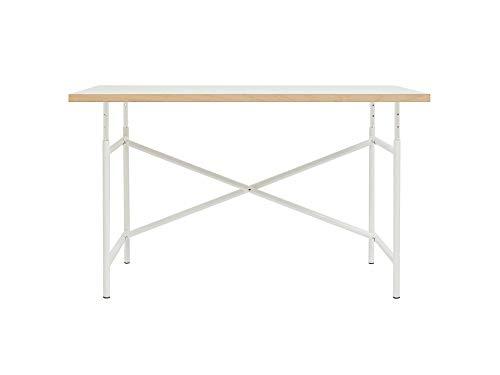Adam Wieland Höhenverstellbarer Kinderschreibtisch mit Kindertischgestell E2 (52-72 x 60 x 105 cm) aus pulverbeschichtem Stahl und Tischplatte 68 x 120 cm, weiß