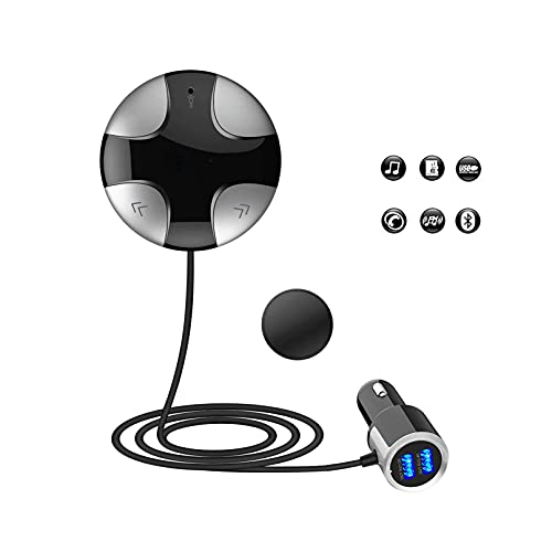 iitrust Adaptador del Kit del Coche Manos Libres Llamada, transmisor/Receptor de Bluetooth, Bluetooth 3.0 Manos Libres Transmisor de FM