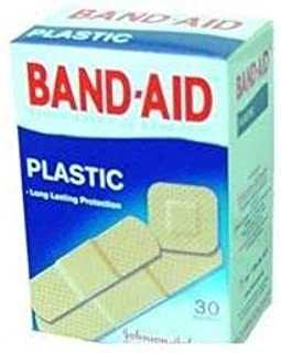 BAND AID PLASTIC ASSORTED SIZES, J&J, PACK OF 30 (2 COUNT BOXES) WHOLESALE PRICE by Band-Aid
