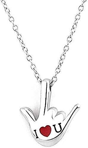 BEISUOSIBYW Co.,Ltd Collar Collar de Plata Pure Creative Exquisite S925 Collar de Plata Collar concéntrico de Hueso para niñas y niños