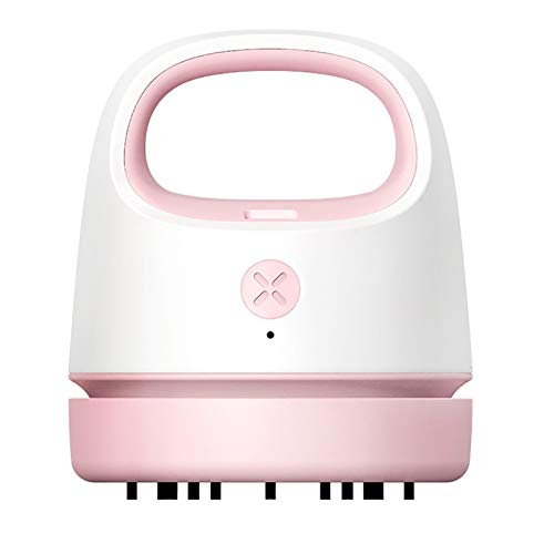 ZHZHZ Portable Vacuum Cleaner, Mini Vacuum Collector, USB Charging, Best for Cleaning Crumbs, Eraser Residue, Keyboard, Sofa Ect, for Home/School/Office (Color : Pink)