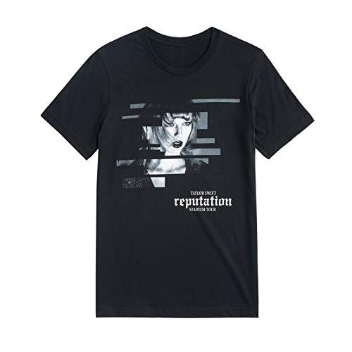 New Taylor Swift Official Reputation Tour Black Short Sleeve Shirt L