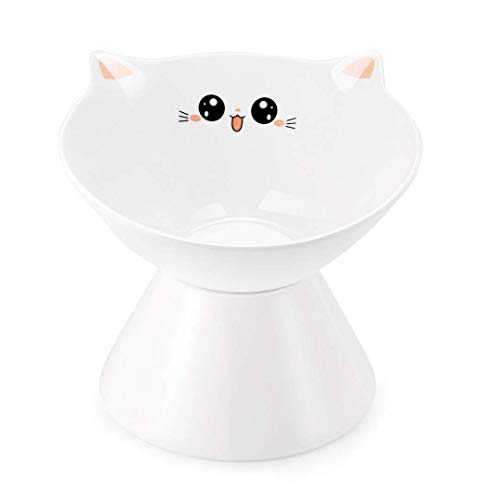 ペット猫 フードボウル 陶器 ペット食器 食事台 えさ 皿 お水入れ 猫 小型犬用ボウル (おもしろい)