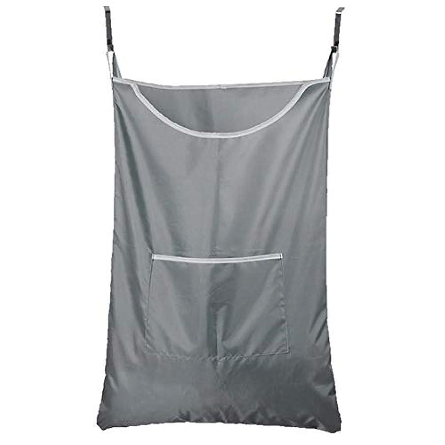 日帰り旅行に丘第五Kth 家庭用収納ハンギングバッグ、ドアの後ろの汚れた服のポケット、携帯用の耐久性のある衣類収納バッグ、オックスフォードの布バッグ (Color : グレー)
