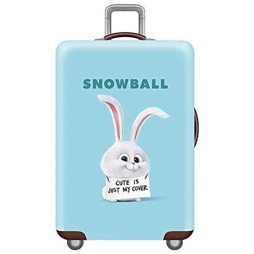 XKMY Funda protectora elástica para equipaje de conejo, maletas, 18 a 32 pulgadas, para maletas, maletas, maletas, maletas, accesorios de viaje (color: una funda de equipaje, tamaño: XL)
