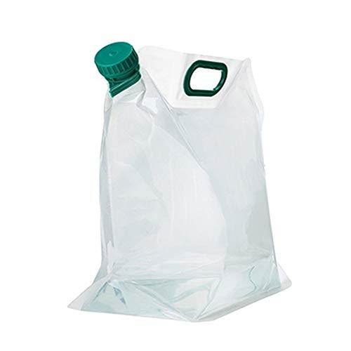 Botella Plegable Plegable Botella De Agua Cristal Botella de Agua Reutilizable Ligero de la Botella de Agua Deportes Botellas de Bebidas Green,5l