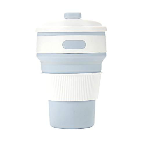rongweiwang 350ml tragbaren Reise-Kaffee-Tee-Schalen-Silikon-Silikon-Falten Tassen Folding Cups zusammenklappbare Trinkbecher im Freien Sport-Wasser-Cup