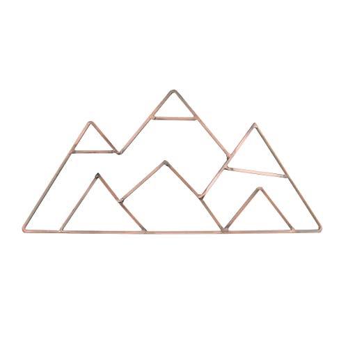 NoJo Mountain Shaped Wire Nursery Wall Decor, Finish, Copper, Mountain Shaped - Copper Finish (3098961P)