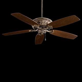 Minka-Aire F659-PI Downrod Mount, 5 White / Cream Blades Ceiling fan, Patina Iron