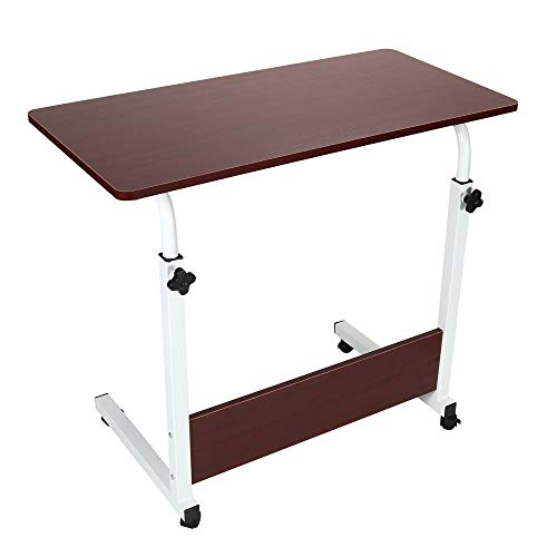 Bedside Table Laptop Table Medical Over Bed Table for Home Office Working,Folding Bed Trays for Eating (Black)