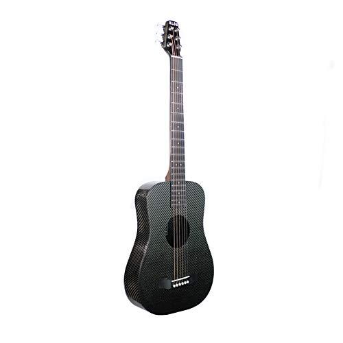 4. KLOS Black Carbon Fiber Travel Acoustic Guitar