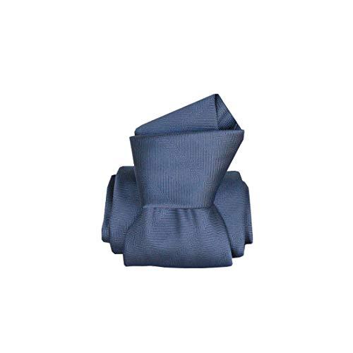Segni et Disegni. Cravate artisanale. Confection main, Soie. Bleu, Uni. Fabriqué en Italie.