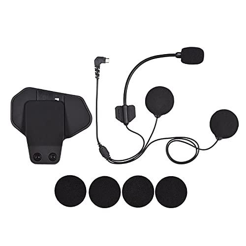 Montloxs Accesorios para R1 o R1plus Motocicleta BT Intercomunicador Casco Auriculares Interfono BT Micrófono pequeño Altavoz Mic + Soporte Adhesivo Clip
