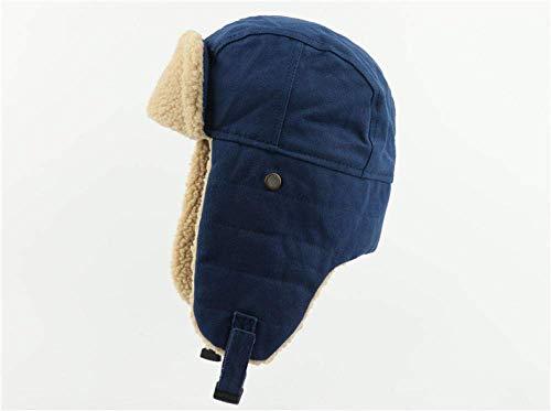 NOSSON Herbst und Winter Hut Männer Lei Feng Hut Outdoor Jagd Kavallerie Warme Ohrenschützer Cotton Cap Blue_