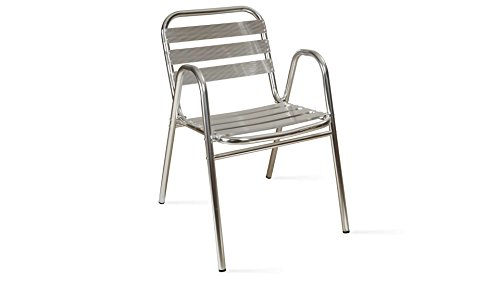 Oviala Chaise de Jardin Aluminium empilable