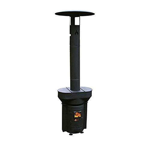 Q-Stoves Calefactor de pellet de madera para exteriores, Q-Flame portátil, ecológico, para patio, camping y salir de la red