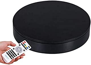 ComXim Professional 360 Degree Black Rotating Turntable for Product Photography, 88LB Capacity, 12.6in Diameter,Automatic Remote Control Angle,Speed,Direction, Various Rotation Mode