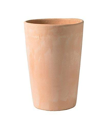 VASO CILINDRO IN TERRACOTTA GALESTRO FATTO A MANO - MADE IN ITALY; ALTEZZA CM. 34, DIAMETRO CM. 21.