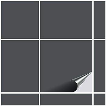 Wandkings Fliesenaufkleber W/ähle eine Farbe /& Gr/ö/ße 100 St/ück f/ür Fliesen in K/üche Schwarz Seidenmatt 14,9 x 14,9 cm Bad /& mehr