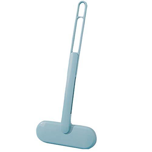 ZSooner Cepillo de limpieza para baño Mosquitera lavable para eliminar el polvo duradero de cristal ABS con agujero para colgar, mango telescópico desmontable, portátil para pantalla de ventana (azul)