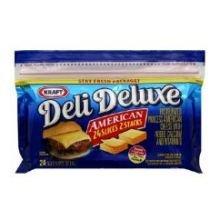 Kraft Deli Deluxe American Sliced Cheese, 8 Ounce - 12 per case.