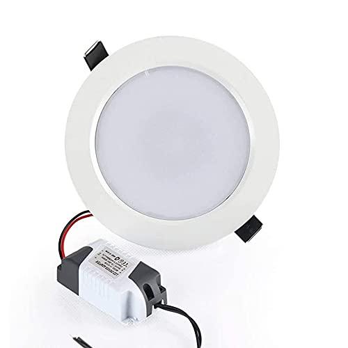 GYZLZZB Lámpara de techo redonda empotrable de 5 W, 10 W, 15 W, ultrafina, luces ambientales regulables, con mando a distancia de techo, reflectores de color de 16 colores