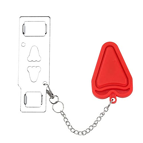Portable Locks, Travel Security Locks, Apartment Locks, Suitable for Home Security Devices, Airbnb, Hotel Apartments, Etc. (Red)