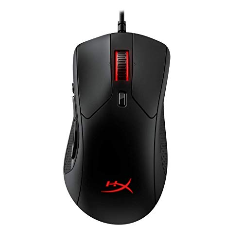 HyperX Pulsefire Raid RGB Gaming Mouse with Optical DPI Adjustable Omron Switch for Gamers (HX-MC005B) (Black)