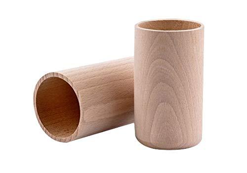 2 tazas de madera redondas para bolígrafo, lápiz sobre escritorio, suministros de oficina, organización de oficina