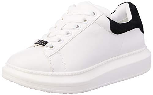 Steve Madden Giana Zapatillas para Mujer, Color White/Black, 27